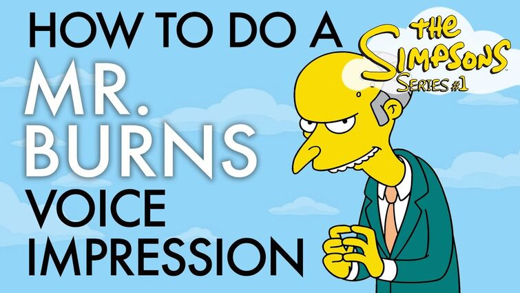 """""""How To Do A Mr. Burns Voice Impression"""" - Voice Breakdown Ep. 42 - Simpsons Series 1"""