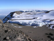 Glacier at summit of Mt Kilimanjaro 001