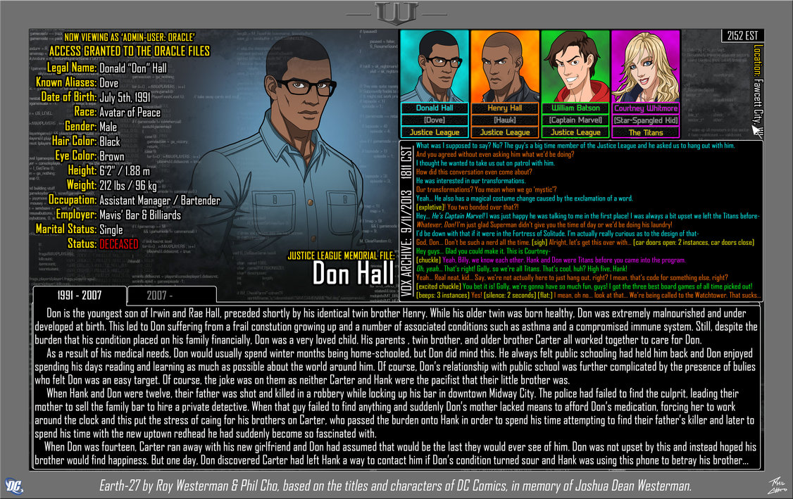 Oracle Files: Don Hall 1