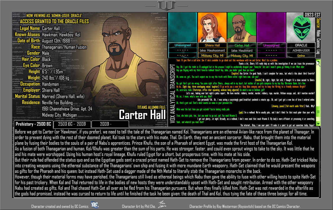 Oracle Files: Carter Hall 1