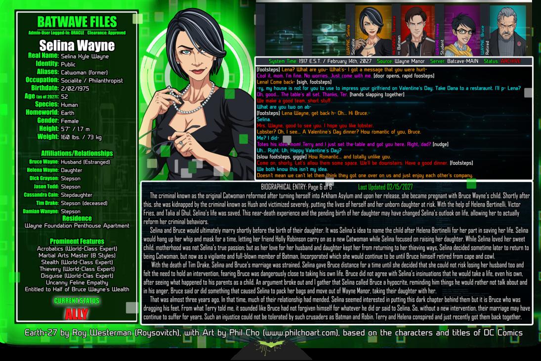 Batwave Files: Selina Wayne