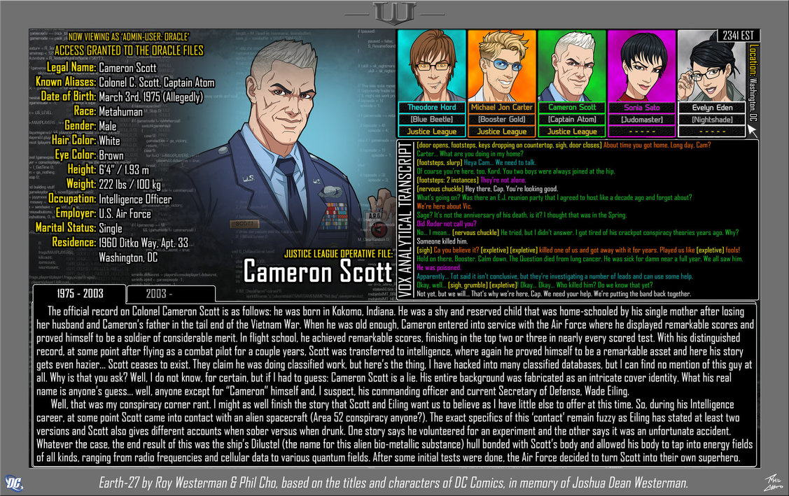 Oracle Files: Cameron Scott 1