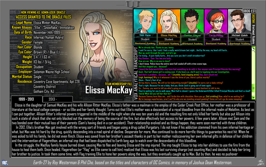 Oracle Files: Elissa MacKay 1