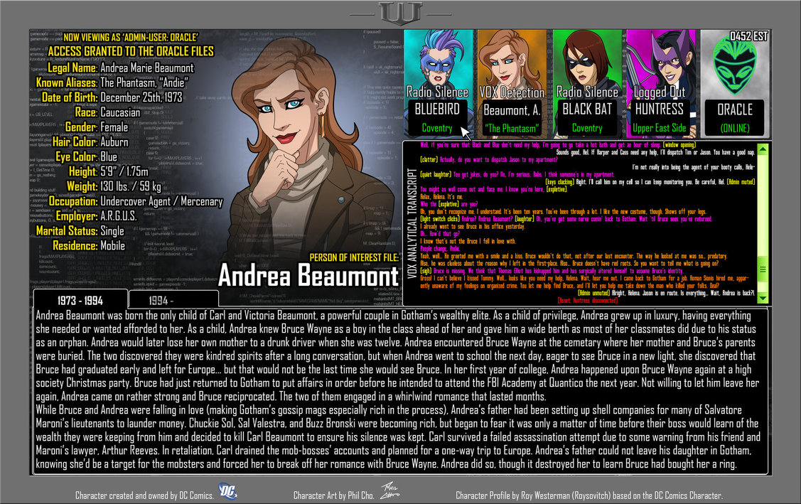 Oracle Files: Andrea Beaumont 1