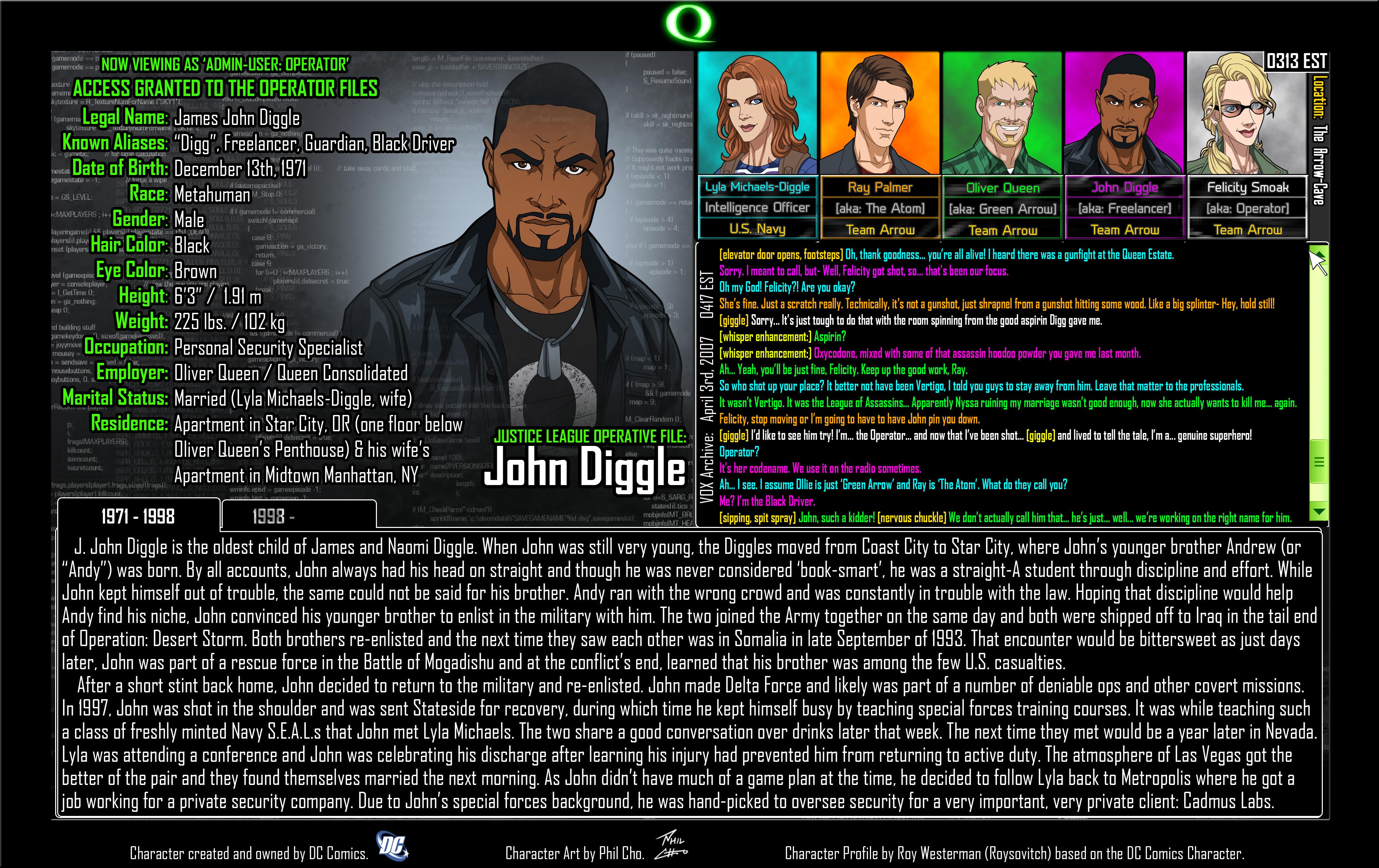 Operator Files: John Diggle 1