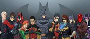 Bat Family in Costume