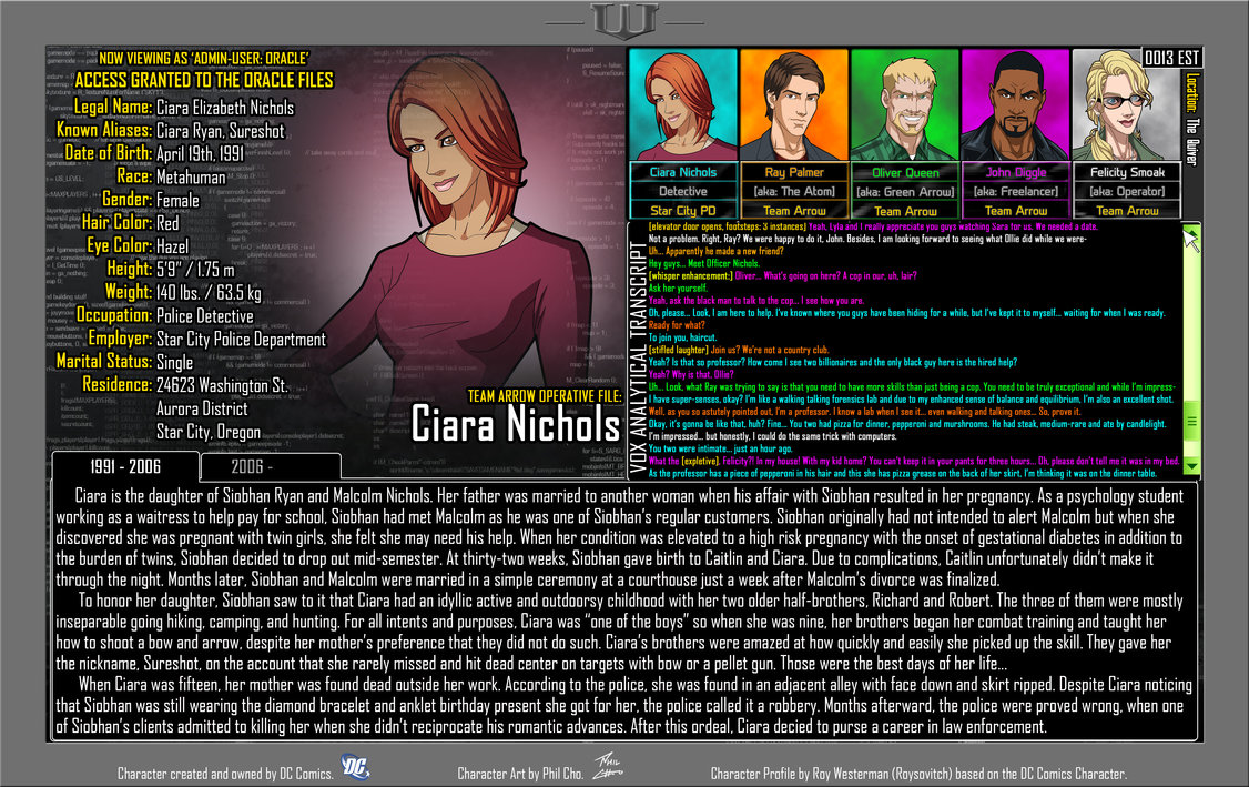 Oracle Files: Ciara Nichols 1