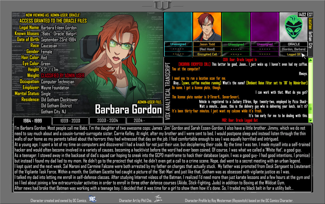 Oracle Files: Barbara Gordon 1