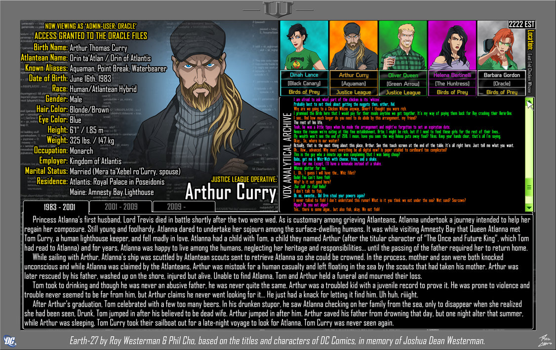 Oracle Files: Arthur Curry 1
