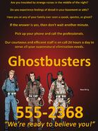 Ghostbusters Ad (Variant 1)