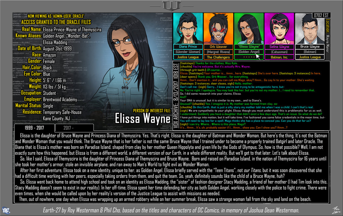Oracle Files: Elissa Prince-Wayne 1