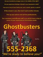 Ghostbusters Ad (Variant 2)