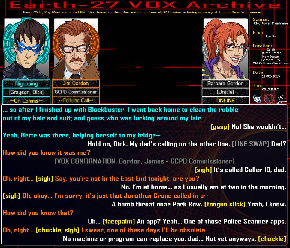 E27VOXA: The Commissioner's Daughter