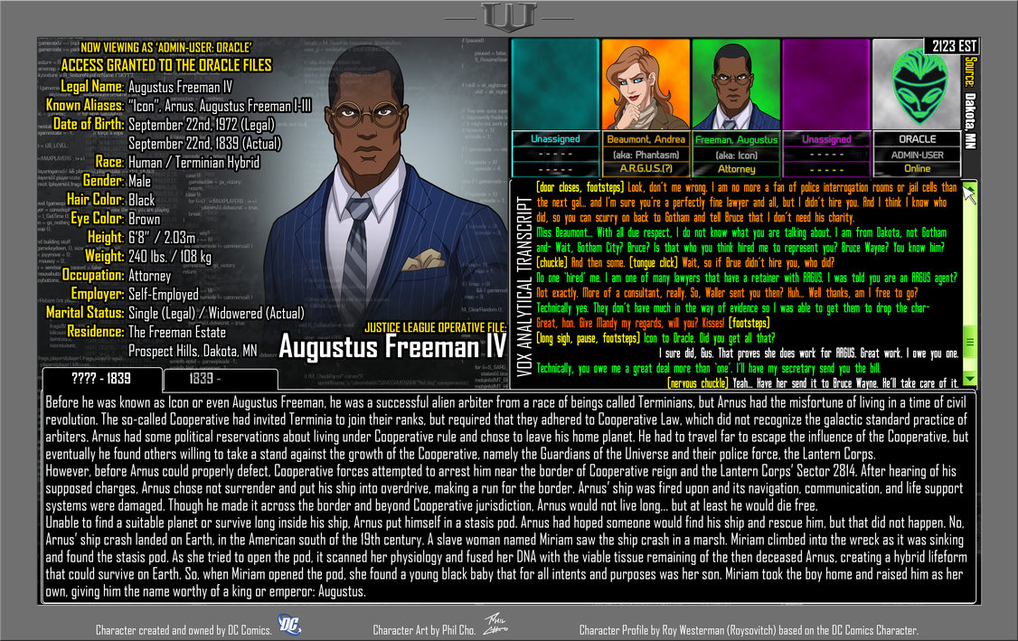 Oracle Files: Augustus Freeman 1