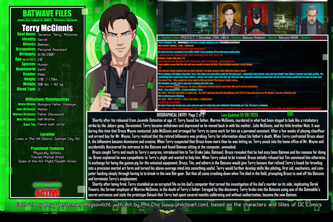 Batwave Files: Terry McGinnis