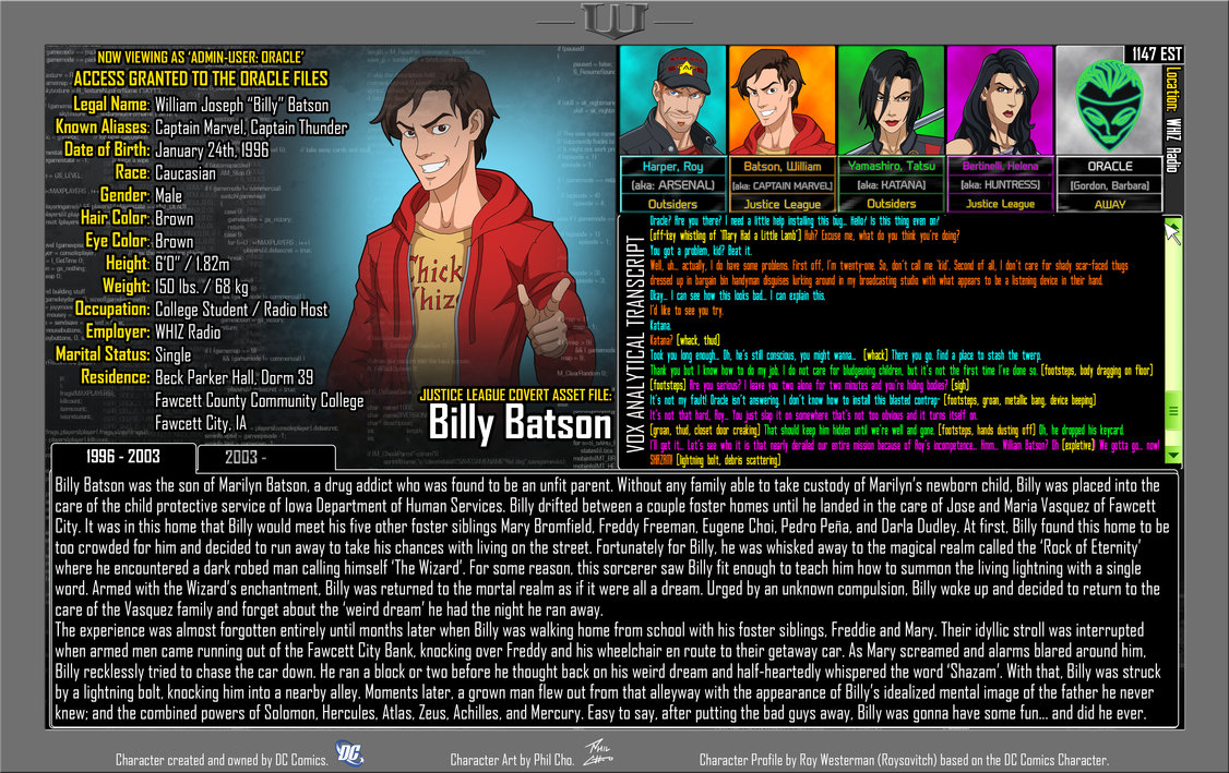 Oracle Files: Billy Batson