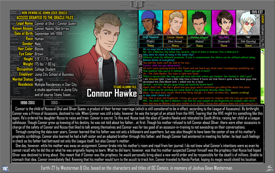 Oracle Files: Connor Hawke 1