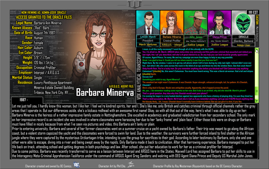 Oracle Files: Barbara Minerva