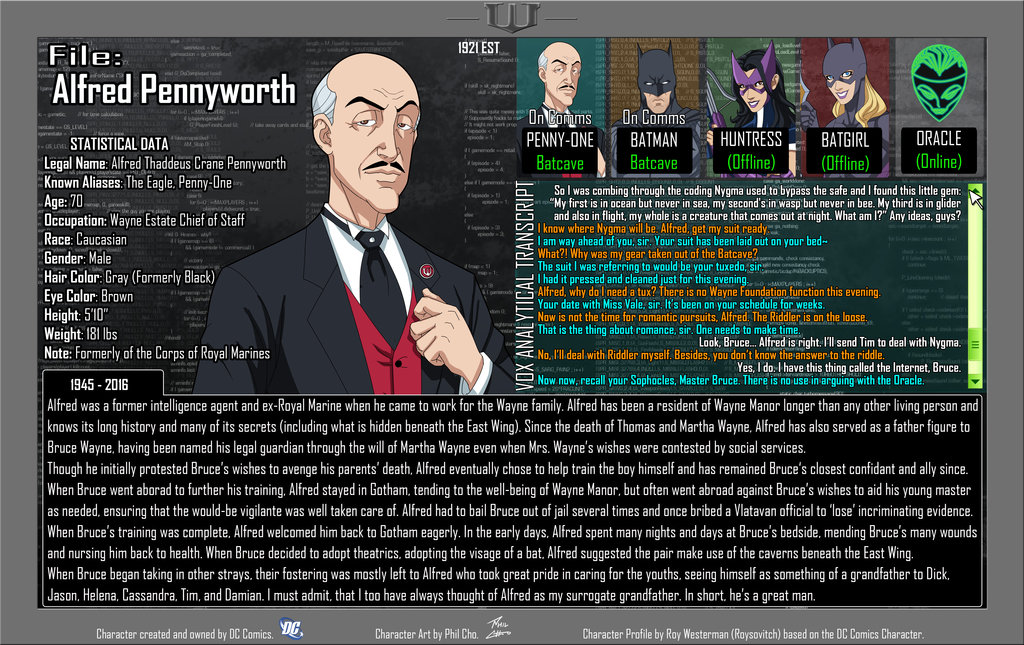 Oracle Files: Alfred Pennyworth