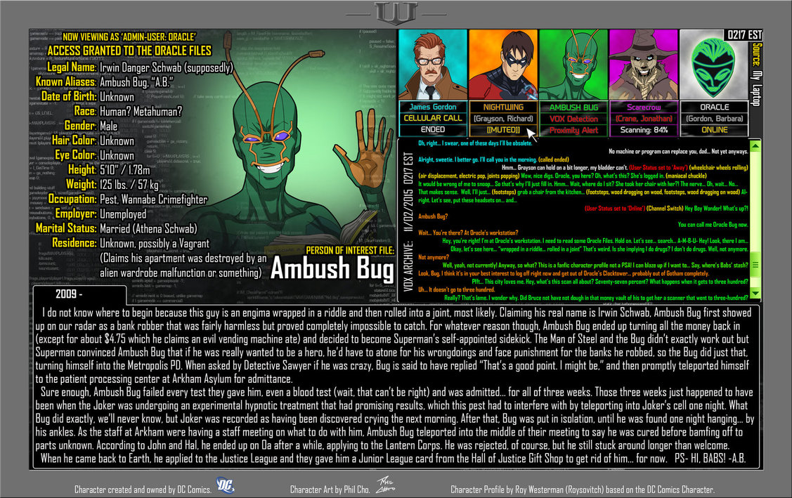 Oracle Files: Ambush Bug