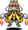 New Fassad's in-battle sprite (also shared with Miracle Fassad during the second phase of the fight)