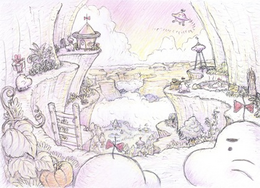 Concept art of Saturn Valley