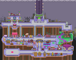 New Pork City's in-game map.