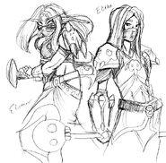 Elithe and Elisthar by Caela