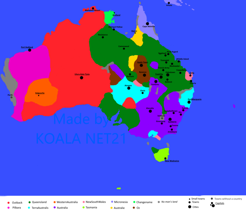 Map of Australia by KOALA_NET21