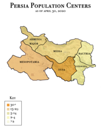 Map of Persia's Population Centers by [[Tamar__]]