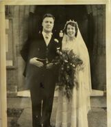 Albert Beale and Lou Beale Wedding Photo