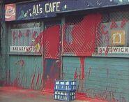 Ali's Cafe Vandalised (13 February 1986)