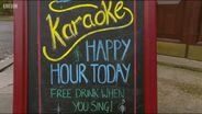 Queen Vic Karaoke Sign