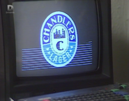 Colin loads the Chandlers Brewery logo onto his Amstrad CPC 464 (15 October 1987)