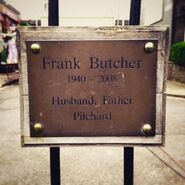 Frank Butcher Plaque