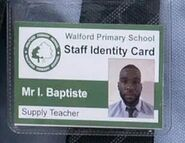 Isaac Baptiste Walford Primary ID Card (2020)