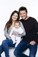 Stacey,Martin and baby Arthur