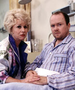 Peggy Mitchell and Phil Mitchell (7 November 1994)