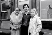 Angie Watts (Jean Fennell) and Den Watts and Sharon Watts