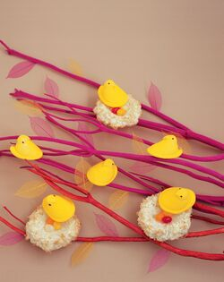 Peeps in Nests, a sweet Easter Craft