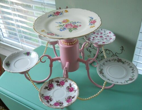 Chandelier turned serving tray