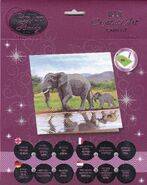 Crystal Art D.I.Y Elephant card kit