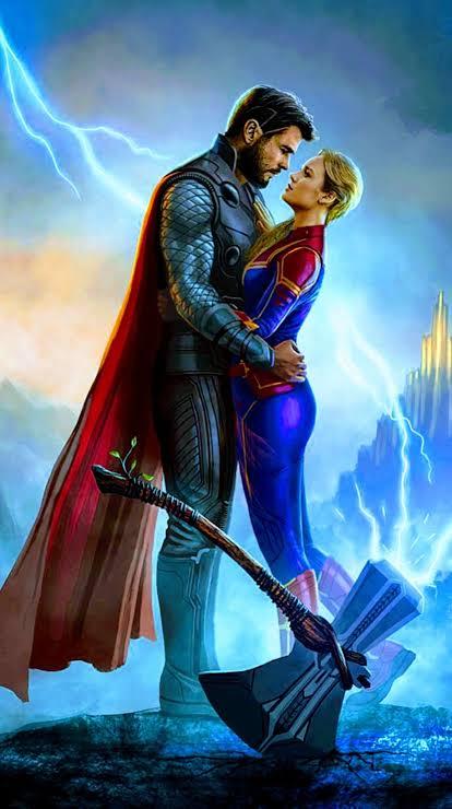 Thor e capitã Marvel o que acham?