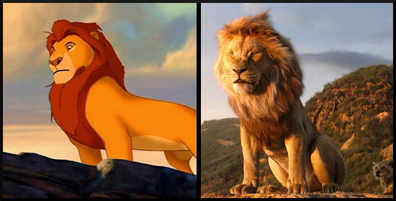 Mufasa from The Lion King- Then vs. Now, which character's appearance do you prefer?