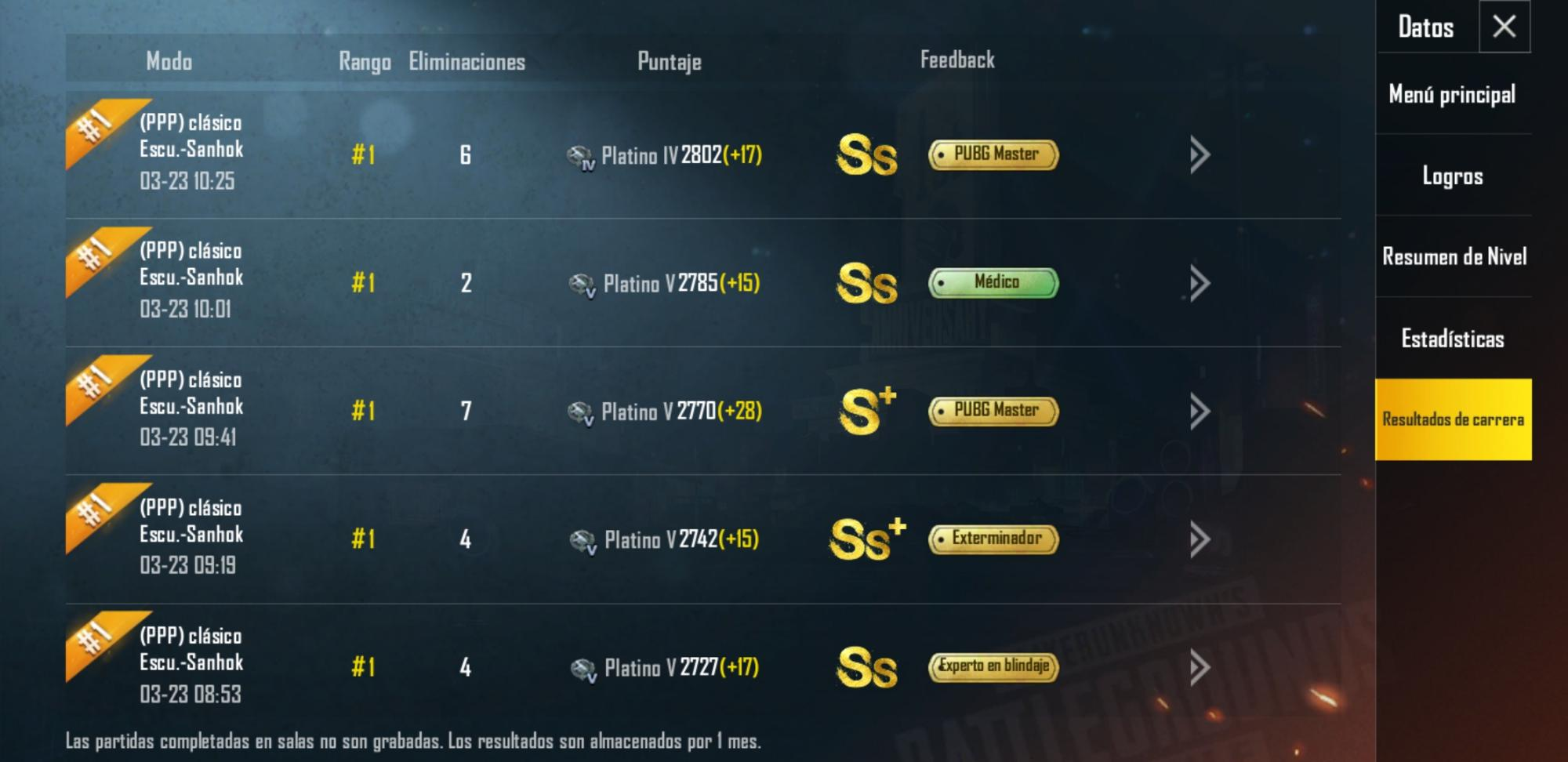 I won five matches :D