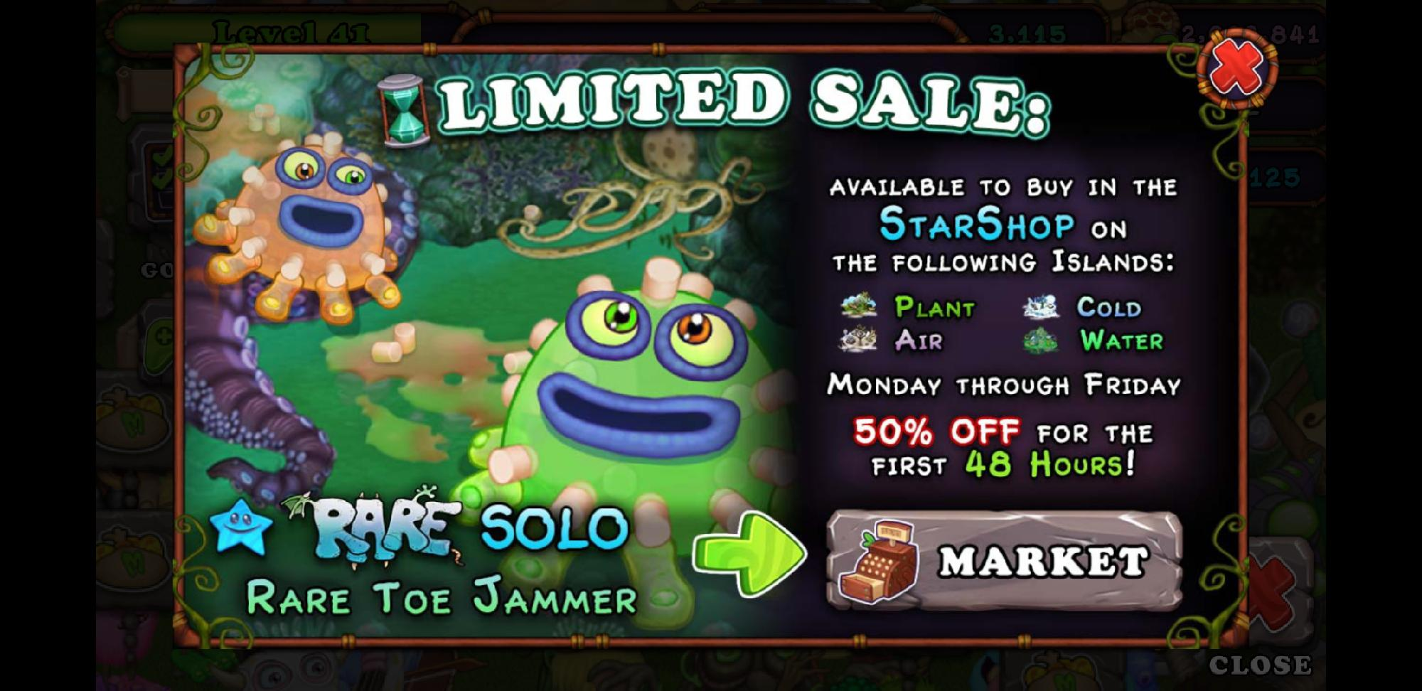 Rare Toe Jammer Available In StarShop