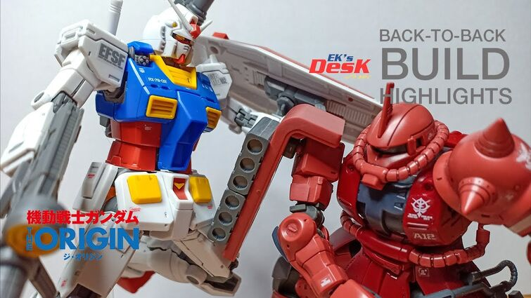 BEST OF HG RX-78-02 GUNDAM x HG CHAR'S ZAKU II BUILD HIGHLIGHTS | GUNDAM THE ORIGIN