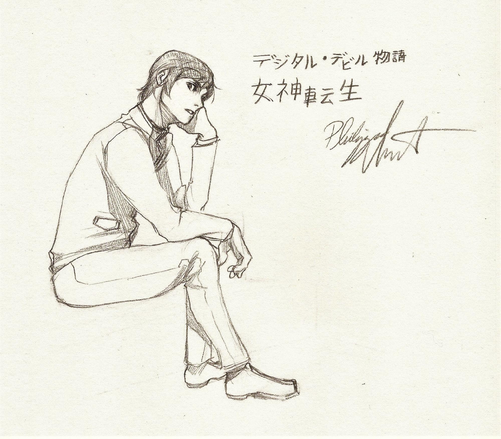 smelly boi, smt series founder nakajima sketch
