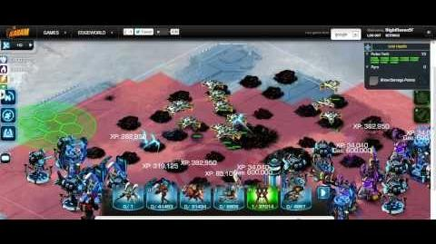 Attacking a Maar Confederacy lev 8500 in Edgeworld with Pulse Tanks