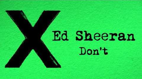 Ed Sheeran - Don't Official Audio